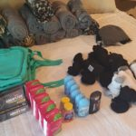 Hygiene kit materials.