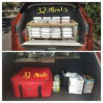 meals packed into trunk